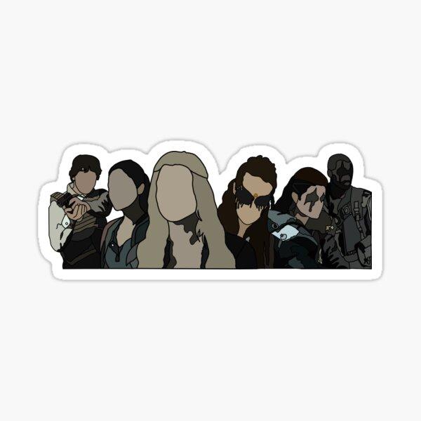 Clarke, Lexa, Raven, Bellamy, Octavia, and Lincoln from 100 Sticker