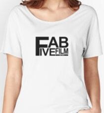 Fab Five Film Logo- black Women's Relaxed Fit T-Shirt