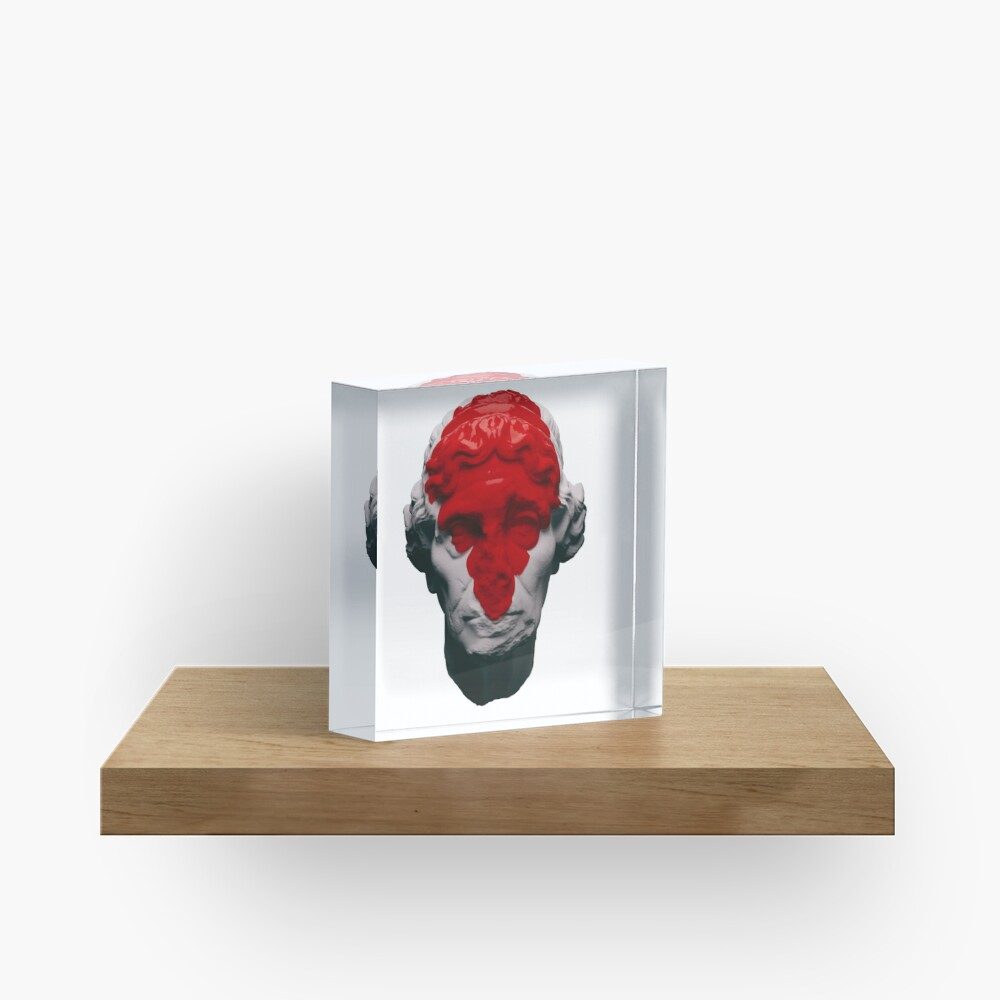 AESTHETIC RED Acrylic Block