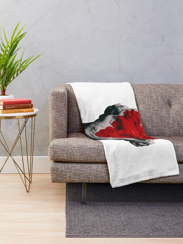 Alternate view of AESTHETIC RED Throw Blanket