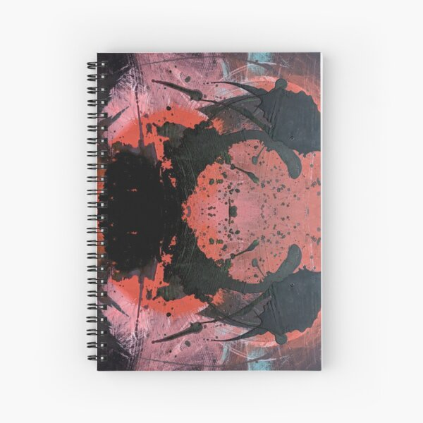 Abstract Ink Blot Acrylic Mixed Media Art Spiral Notebook