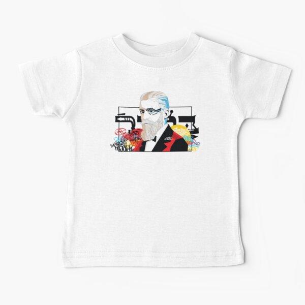 Theodor Herzl portrait  - Pop Art Israeli leader Baby T-Shirt