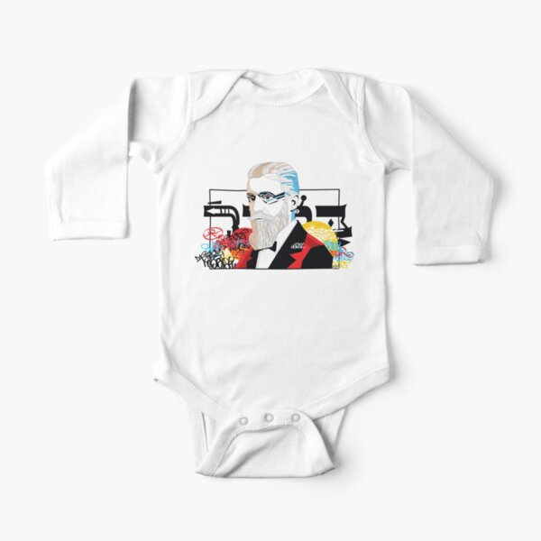 Theodor Herzl portrait  - Pop Art Israeli leader Long Sleeve Baby One-Piece