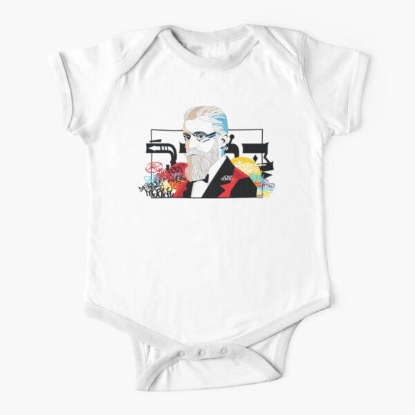 Theodor Herzl portrait  - Pop Art Israeli leader Short Sleeve Baby One-Piece