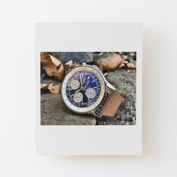 Breitling Navitimer blue Wood Mounted Print