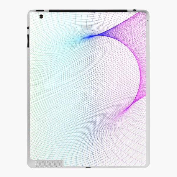 Buntes Netzgitter mit weißem Hintergrund iPad Klebefolie