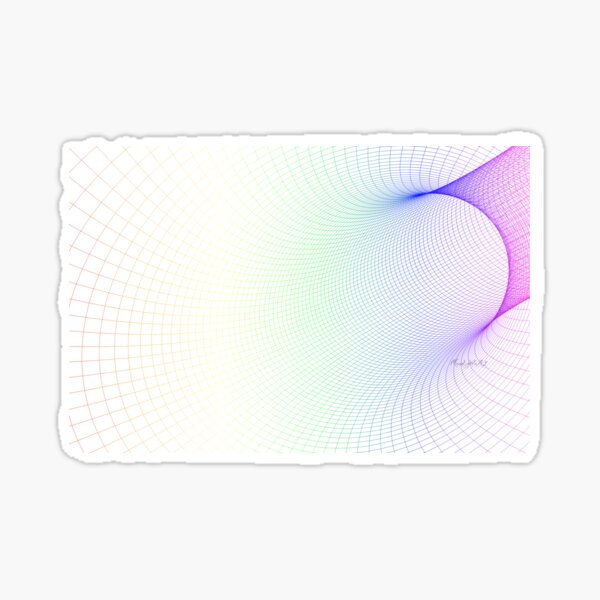 Colorful mesh with white background Sticker