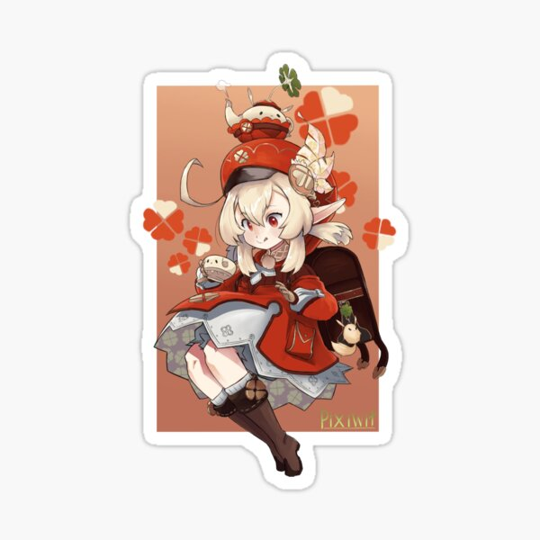 Tea Time with klee Sticker