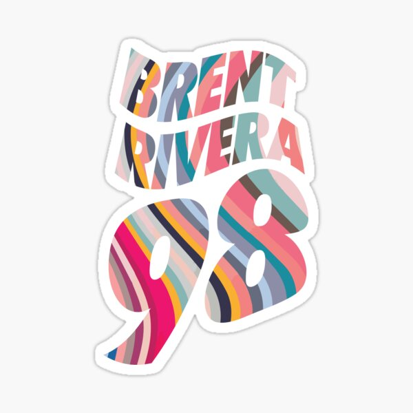 Brent Rivera - Number 98 Sticker