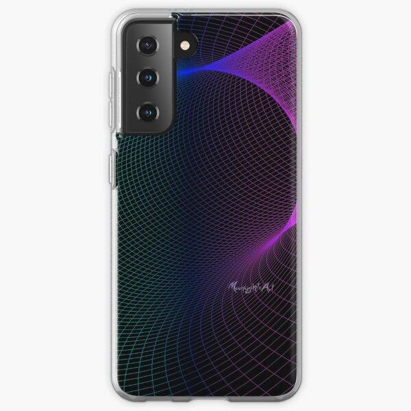 Buntes Netzgitter mit schwarzem Hintergrund Samsung Galaxy Flexible Hülle