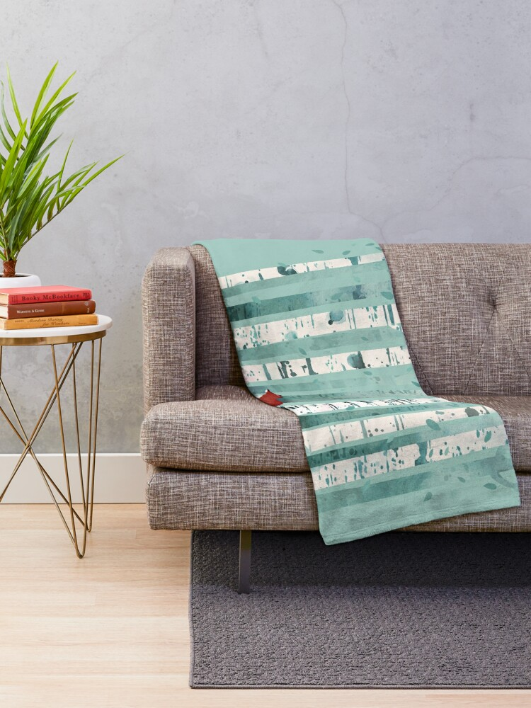 Alternate view of The Birches Throw Blanket