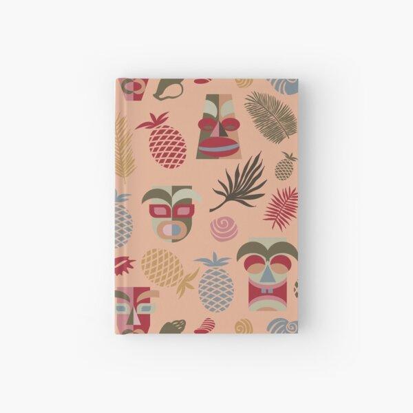 Kopie von tiki masks blue seamless pattern Hardcover Journal
