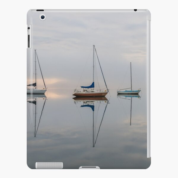 Clouds, boats and reflections iPad Snap Case