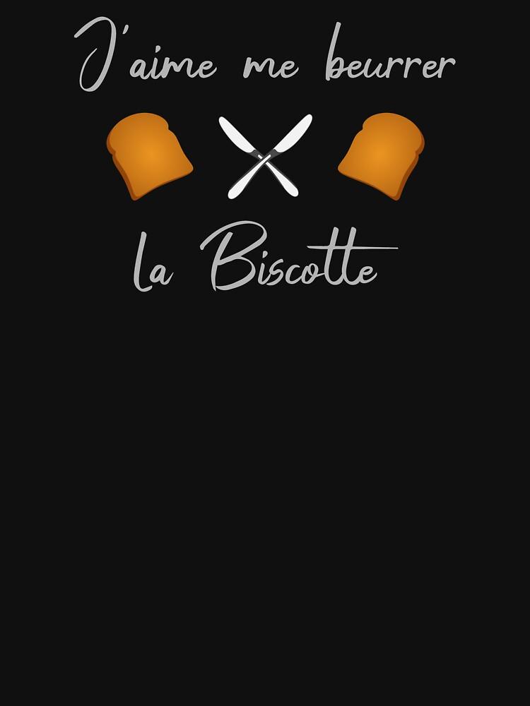 «J'aime me beurrer la biscotte, OSS 117» par Lou-Art