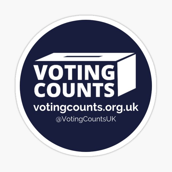 Voting Counts Logo Sticker