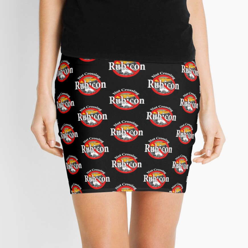 Not Crossing the Rubicon - Indecision Mini Skirt