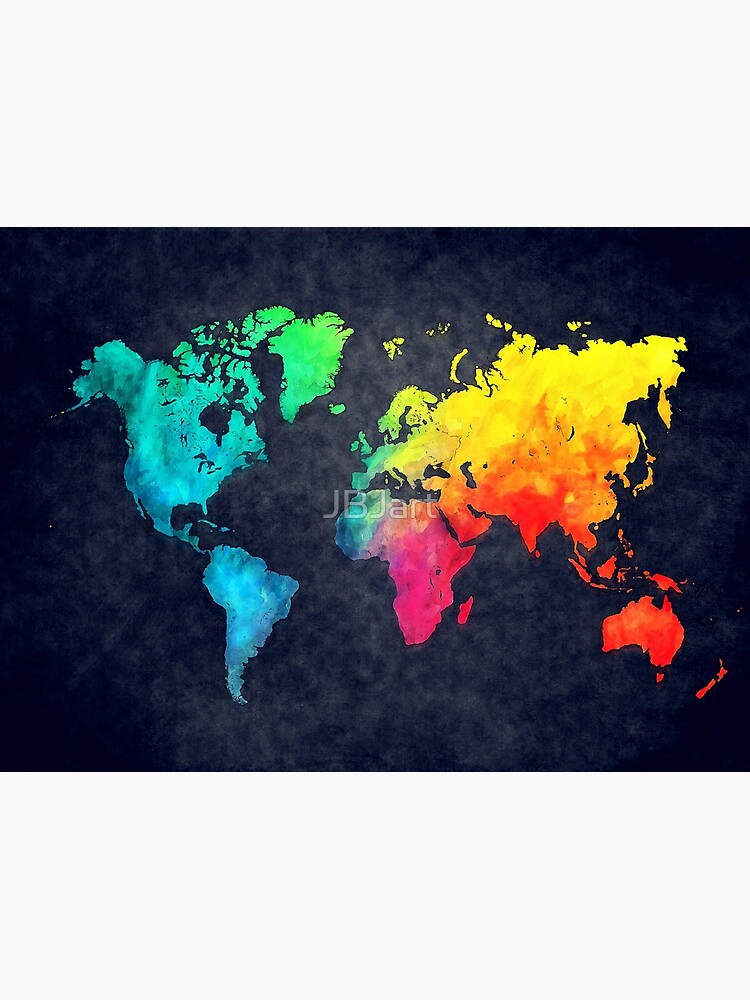 world map watercolor 6 #map #worldmap by JBJart