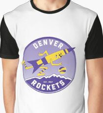 Denver Rockets ABA Basketball  Graphic T-Shirt