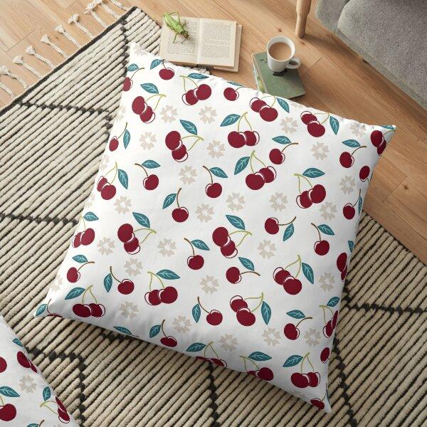 Cherry Polkadot Floor Pillow