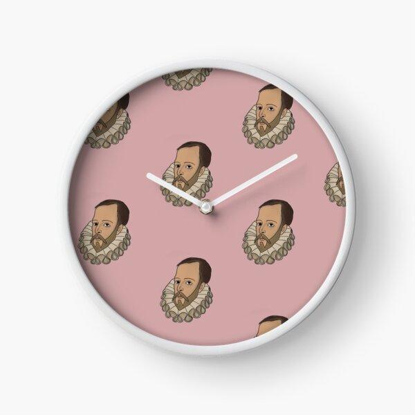Ilustración digital Miguel de Cervantes Reloj