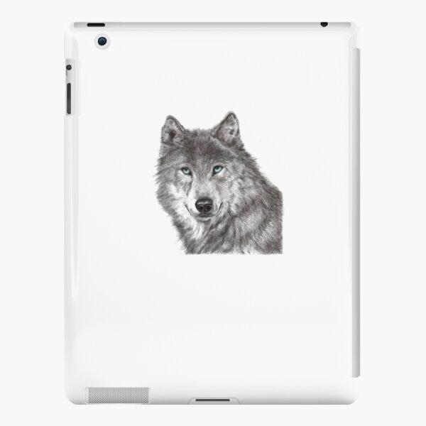 Grey wolf stare iPad Snap Case