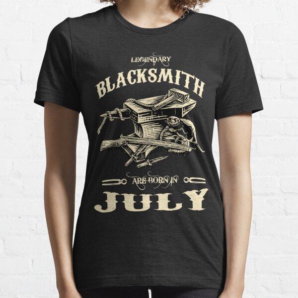 Black Smiths Prem Anvil Equestrian Adult /& Kids T-Shirt Horse Shoe