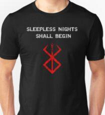 Berserk - Sleepless nights (Red) Unisex T-Shirt