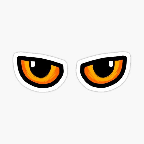 Cat Orange and Yellow Eyes Sticker