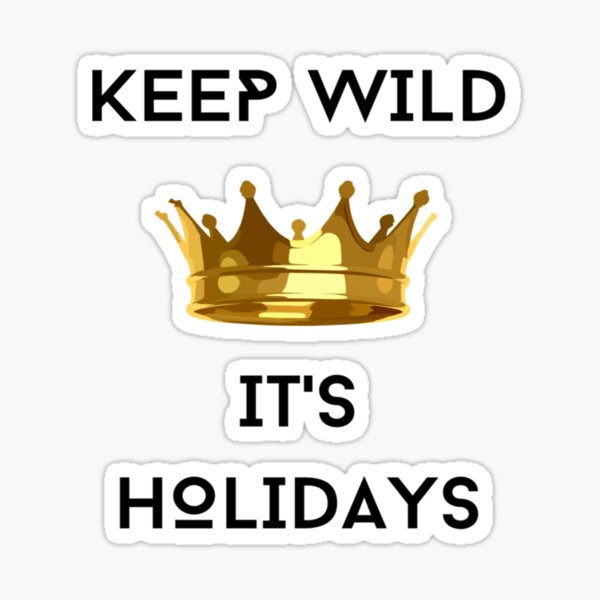 WILD HOLIDAYS. Sticker