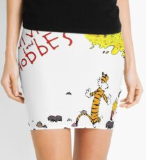 Playing with best friend Calvin and Hobbes Mini Skirt