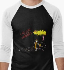 Playing with best friend Calvin and Hobbes Men's Baseball ¾ T-Shirt