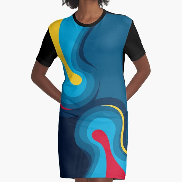 emotional waves Graphic T-Shirt Dress