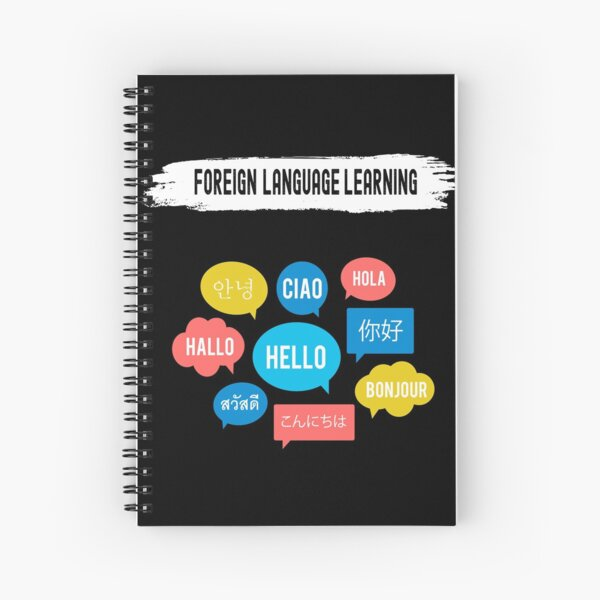 Foreign Language Learning Difficulty Level Expert 16 Bit Video Game Classic T-Shirt Spiral Notebook