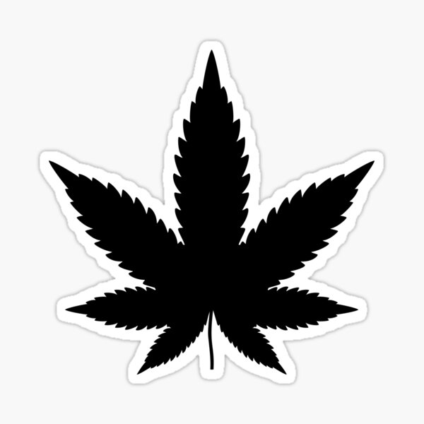 Black Cannabis Sticker