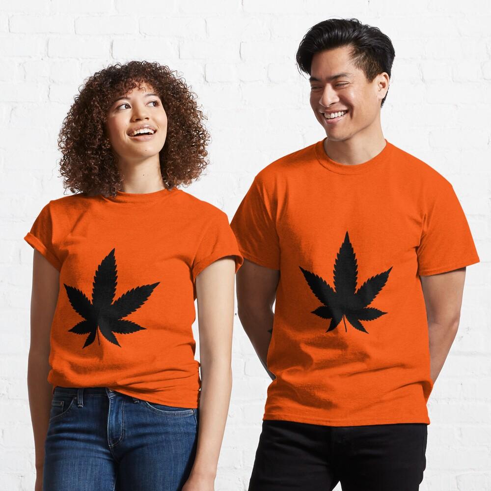 Black Cannabis Classic T-Shirt