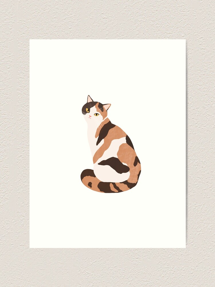 Alternate view of Spotted Cat Art Print