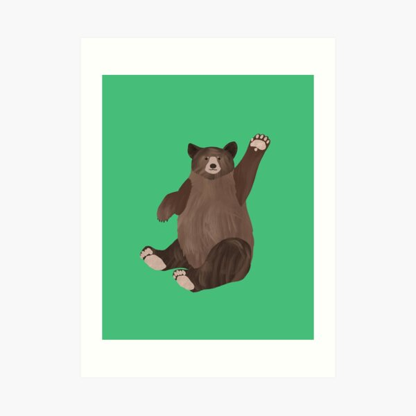 Hello Bear Art Print