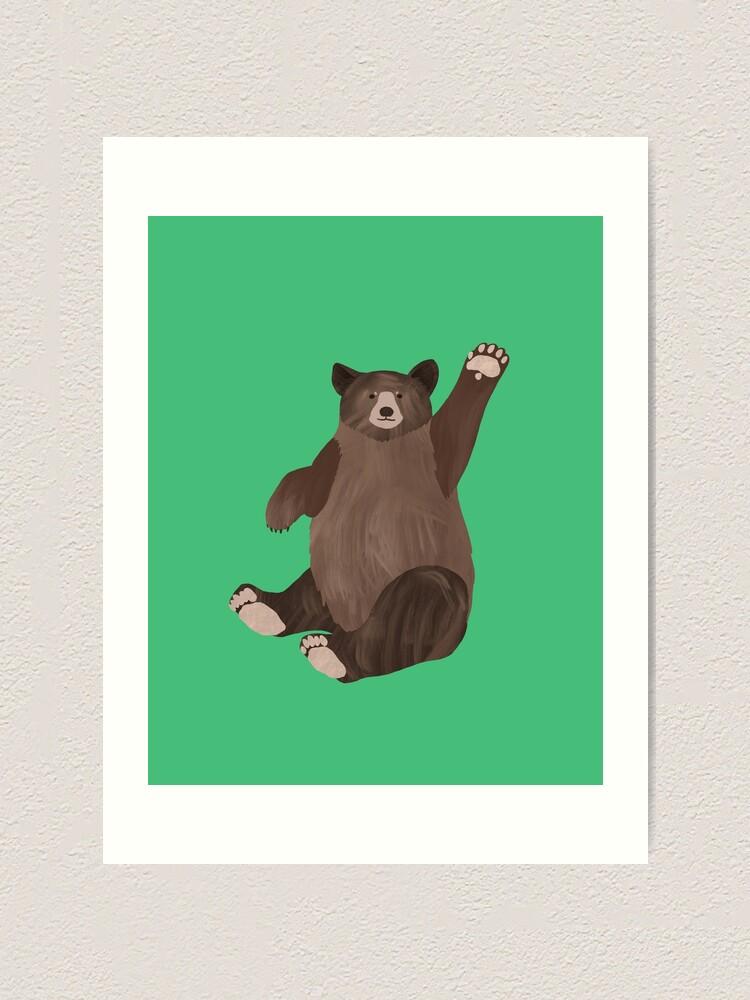 Alternate view of Hello Bear Art Print