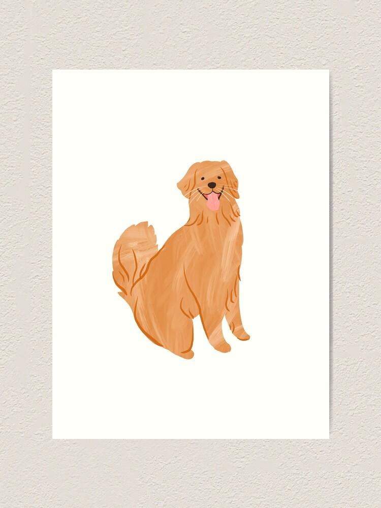 Alternate view of Happy Golden Retriever Art Print