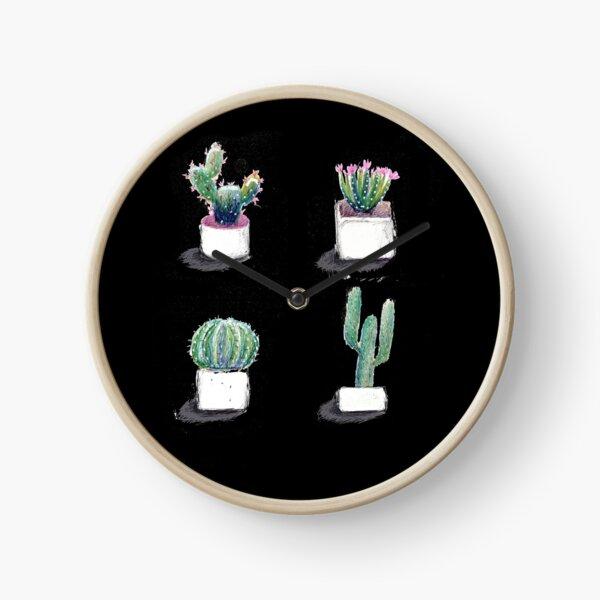 cactus, succulent Clock