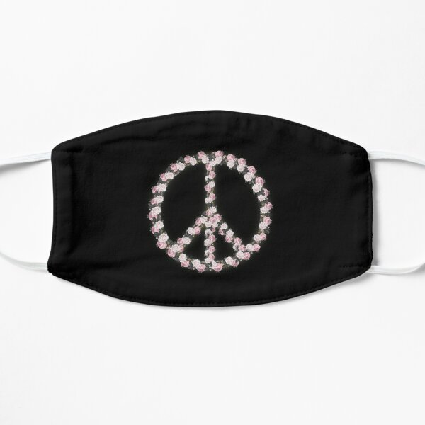 Peace with Rose flowers art Mask