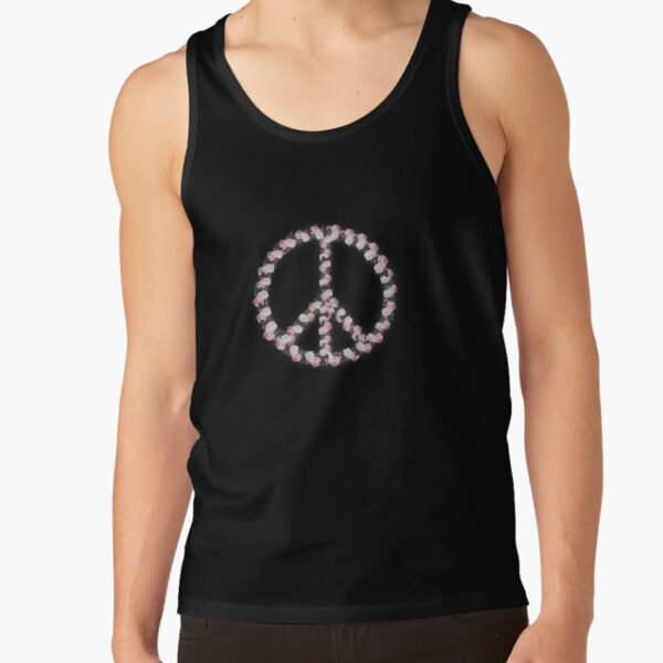 Peace with Rose flowers art Tank Top