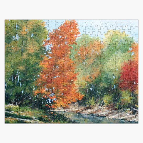 Fall Reflections on the Creek Jigsaw Puzzle Jigsaw Puzzle