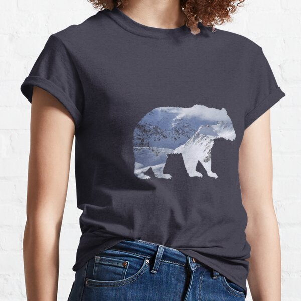 Bear with mountain landscape summits Classic T-Shirt