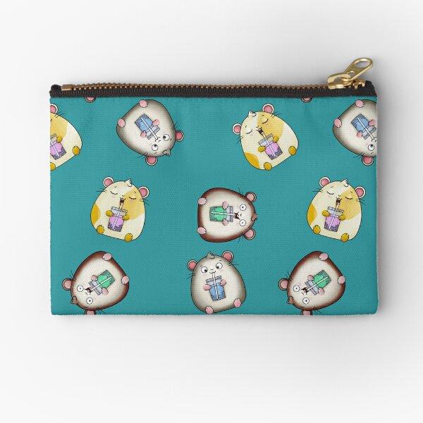 Bubble Tea-loving Kawaii Hamsters Zipper Pouch