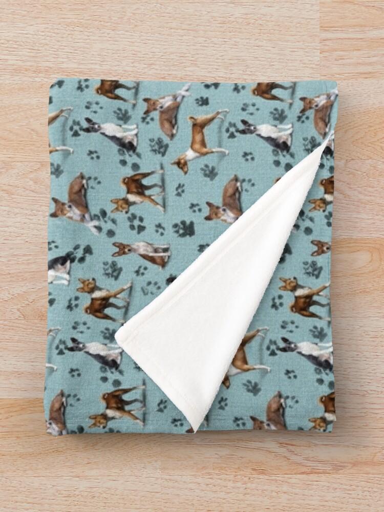 Alternate view of The Basenji Throw Blanket