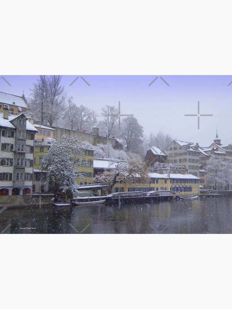 Snowy Zurich by Vaengi