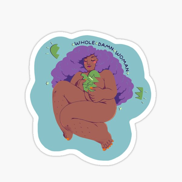 Whole Damn Woman of Beauty 2 Sticker