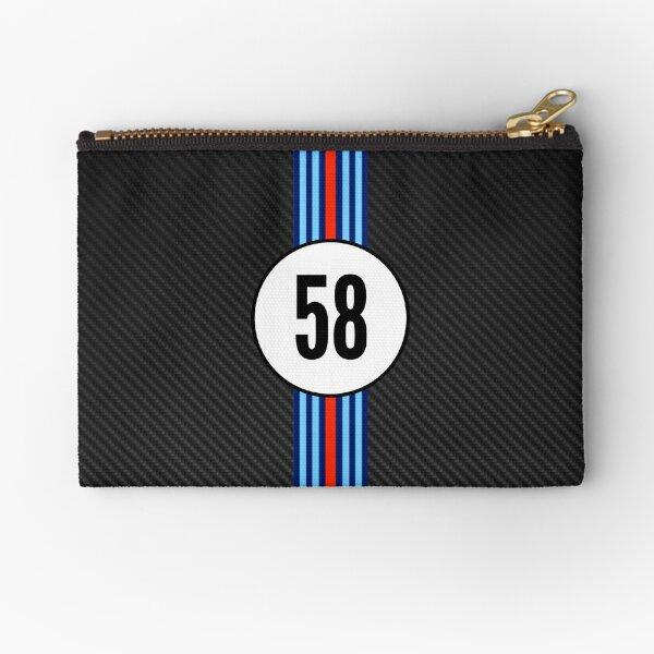 Racing Stripes Carbon Background 58 Zipper Pouch