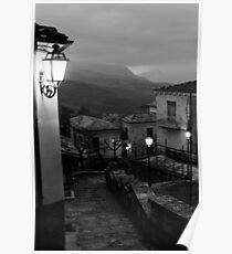Streets of Italy - Caramanico  Poster